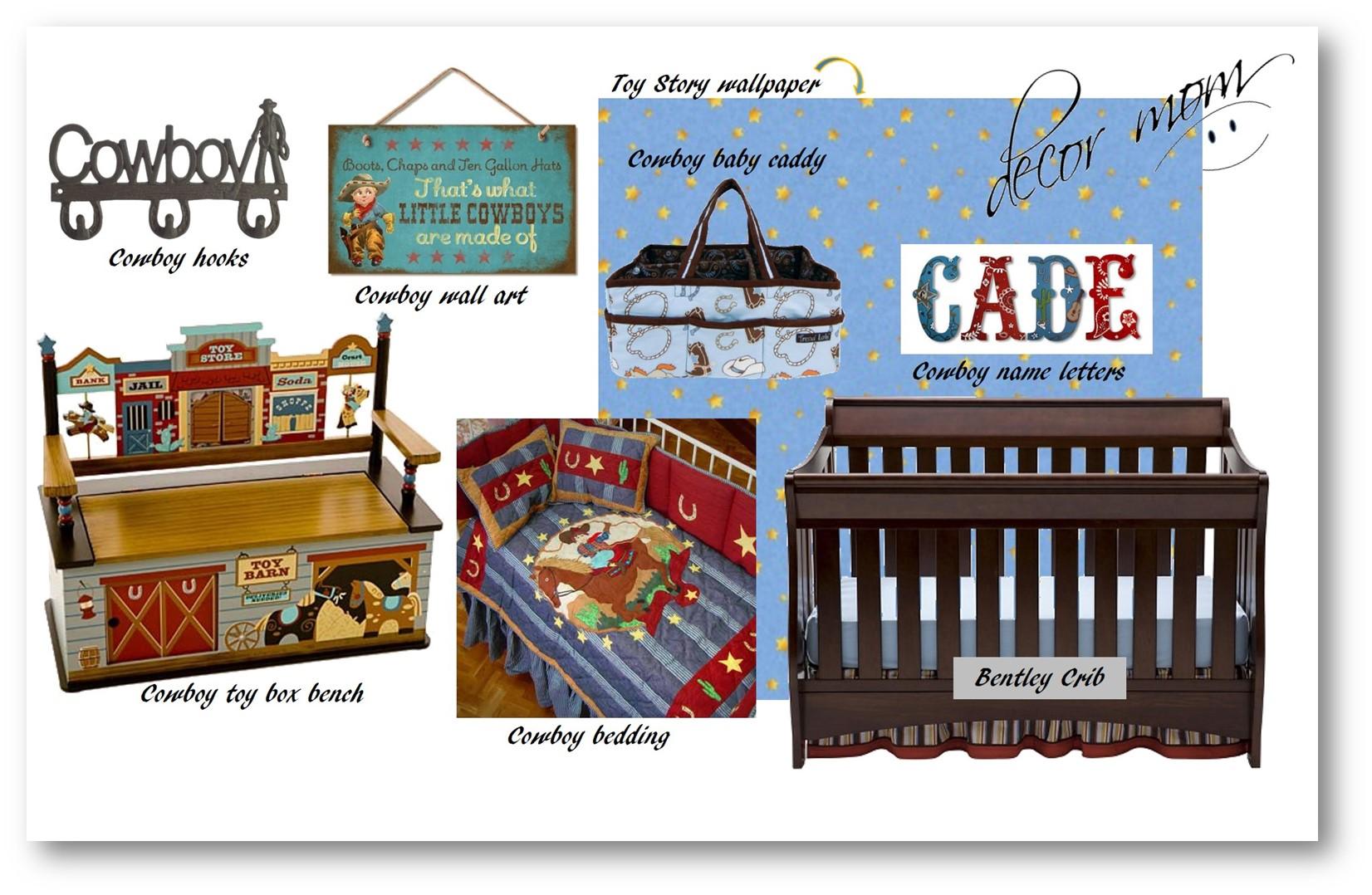 Vision Board 1 - Cowboy Baby Nursery