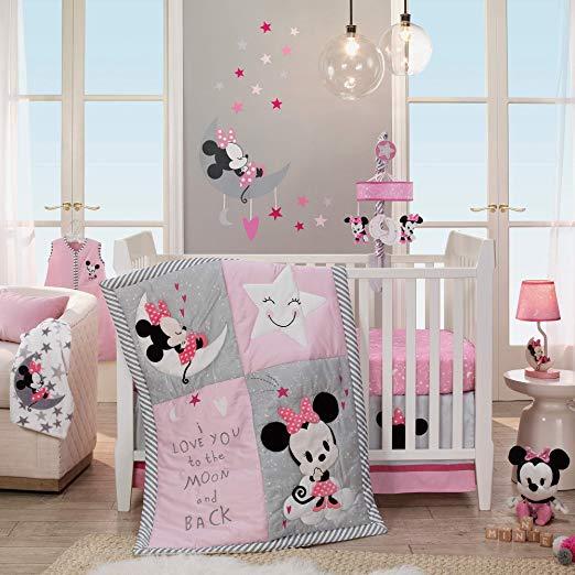 Lambs & Ivy Disney Baby Nursery Crib Bedding Set - Minnie Mouse