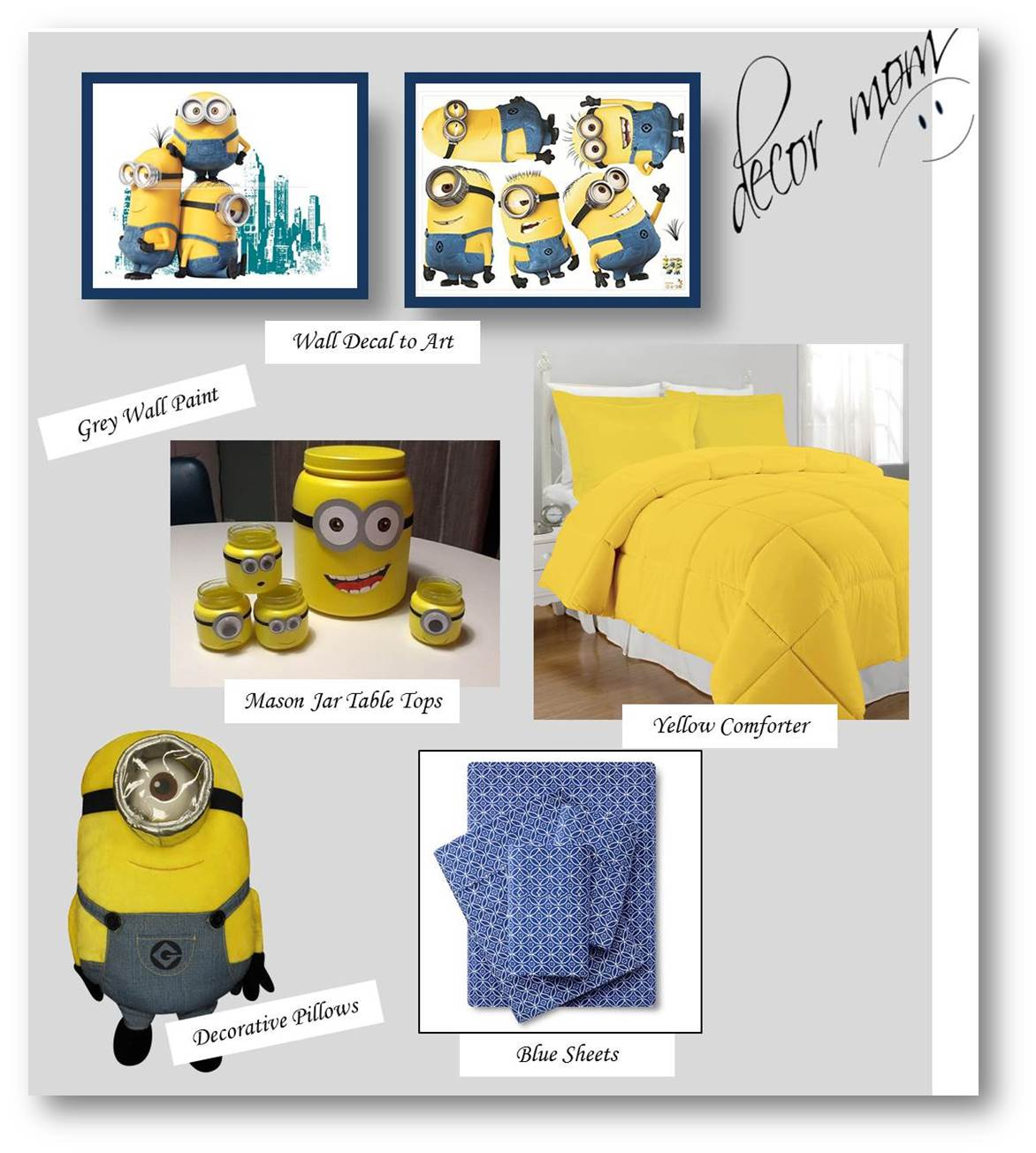 Minion Room Decor - Vision Board 2