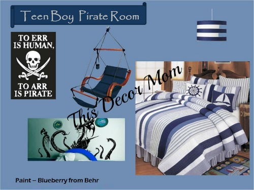 Pirate Theme - Teen Bedroom