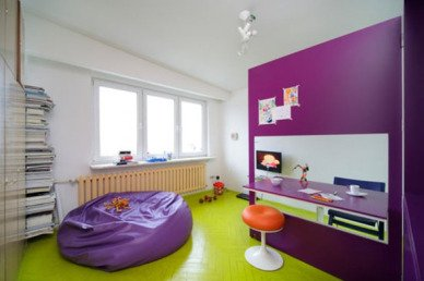 Purple Walls and Lime Green Floor?